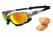 RACING JACKET ��Silver/Fire Iridium Polarized & Persimmon��